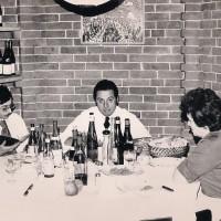 Gilberto Vannelli alla tavolaccia dopo il servizio Anni 70